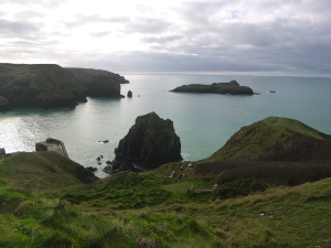 Mullion island from cliff