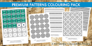 Premium Patterns colouring pack by Gillian Adams