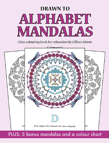Relax and enjoy colouring these fun mandalas!  Each mandala has been lovingly created from things that start with each letter of the alphabet, apart from XYZ which is one design.  Can you spot all of the objects which make up each design?   PLUS there are 5 bonus mandalas and a colour chart at the back of the book.  The pages are single sided so you can cut out and keep your colouring