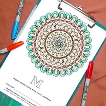 Free colouring page - Mandala M