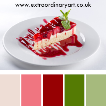 10 colour palettes inspired by delicious desserts