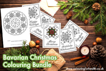 Bavarian Christmas colouring bundle www.extraordinaryart.co.uk