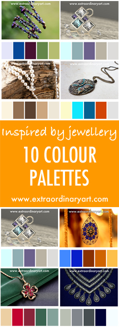 10 colour palettes inspired by jewellery