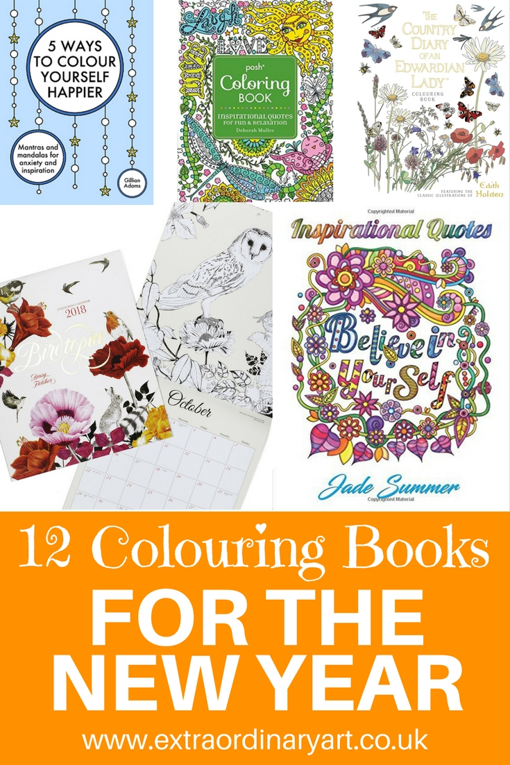 Colouring books New Year 2018