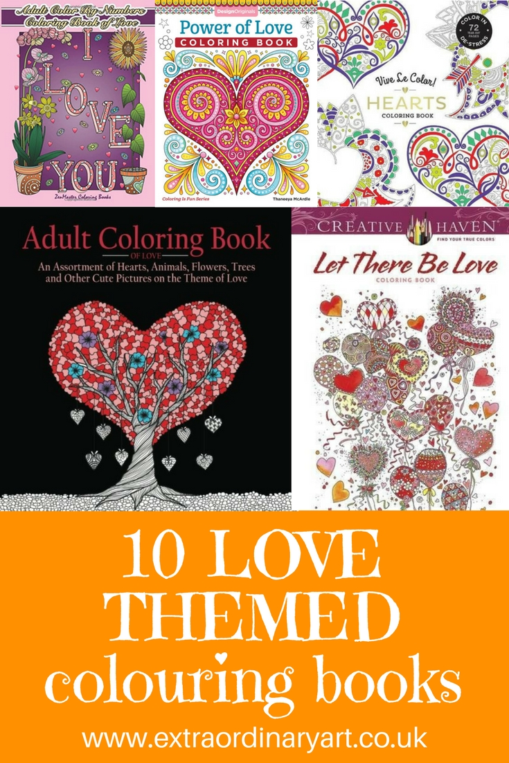 10 love themed colouring books