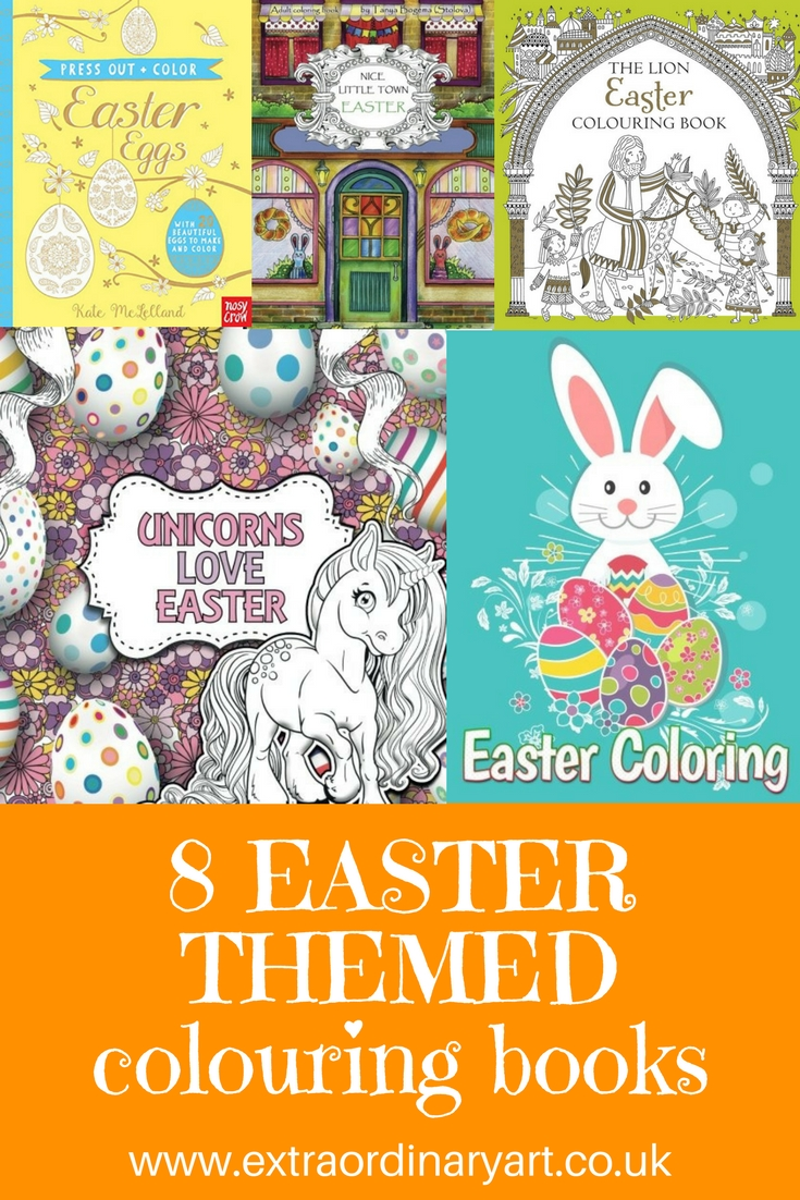 8 Easter themed colouring books