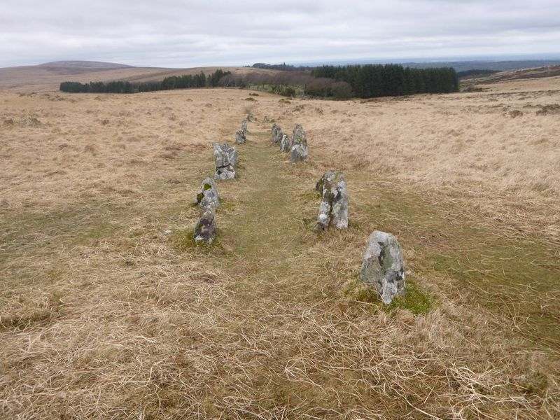 3. View to Batworthy from stone rows
