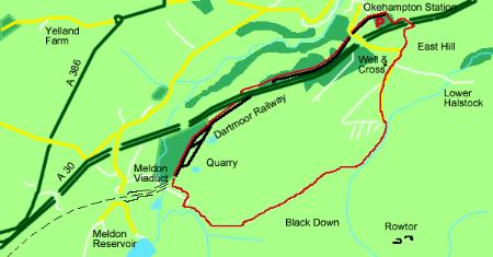 Meldon ViaductMAP