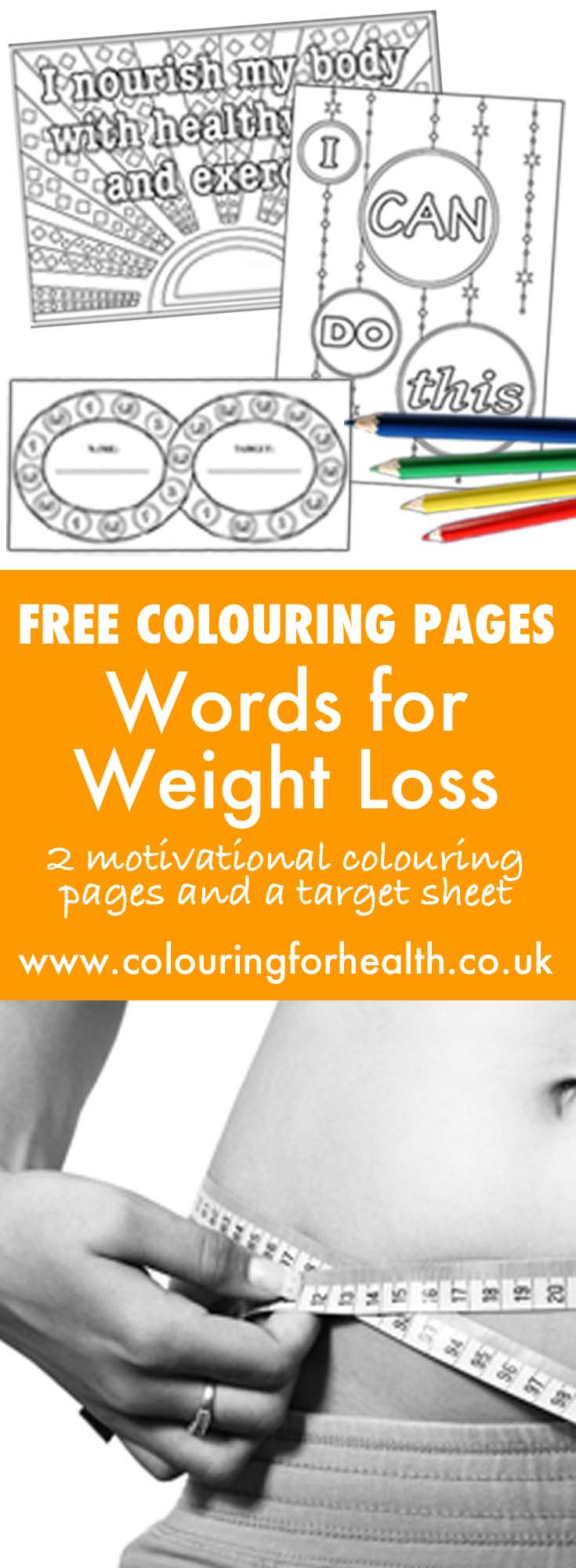 Free weight loss coloring pages
