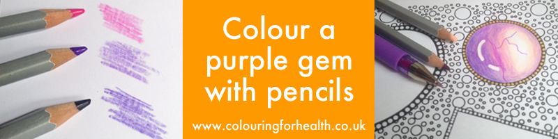 Colour a purple gem with background