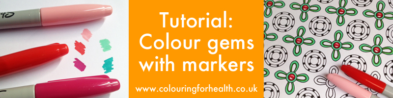 Learn to colour gems using markers