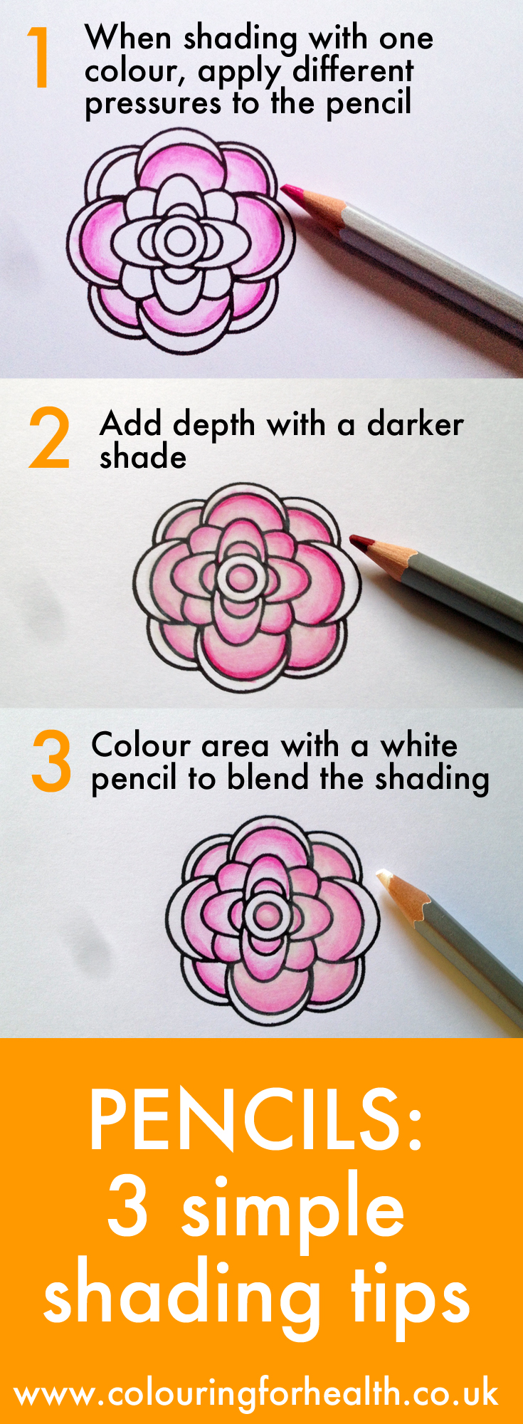 3 easy tips for coloured pencil shading