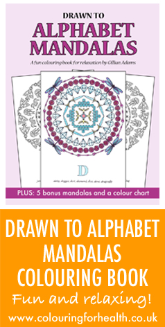 Drawn to Alphabet Mandalas colouring book