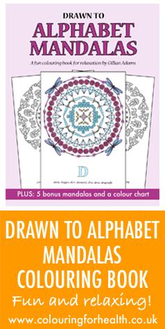 Drawn to Alphabet Mandalas colouring book