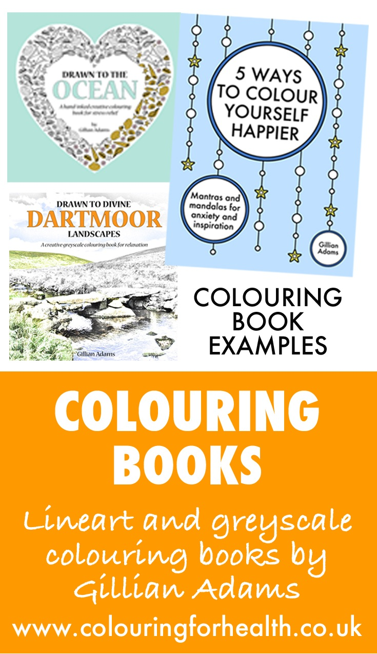 Colouring books by artist Gillian Adams