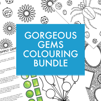 Gorgeous Gems colouring bundle by Gillian Adams