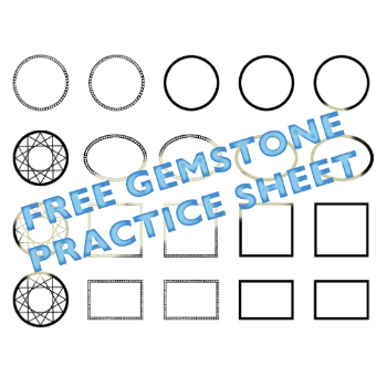 Free gem practice sheet by Gillian Adams