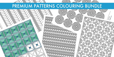 Premium Patterns colouring bundle