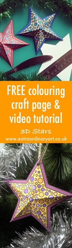 Colouring craft FREE 3D star