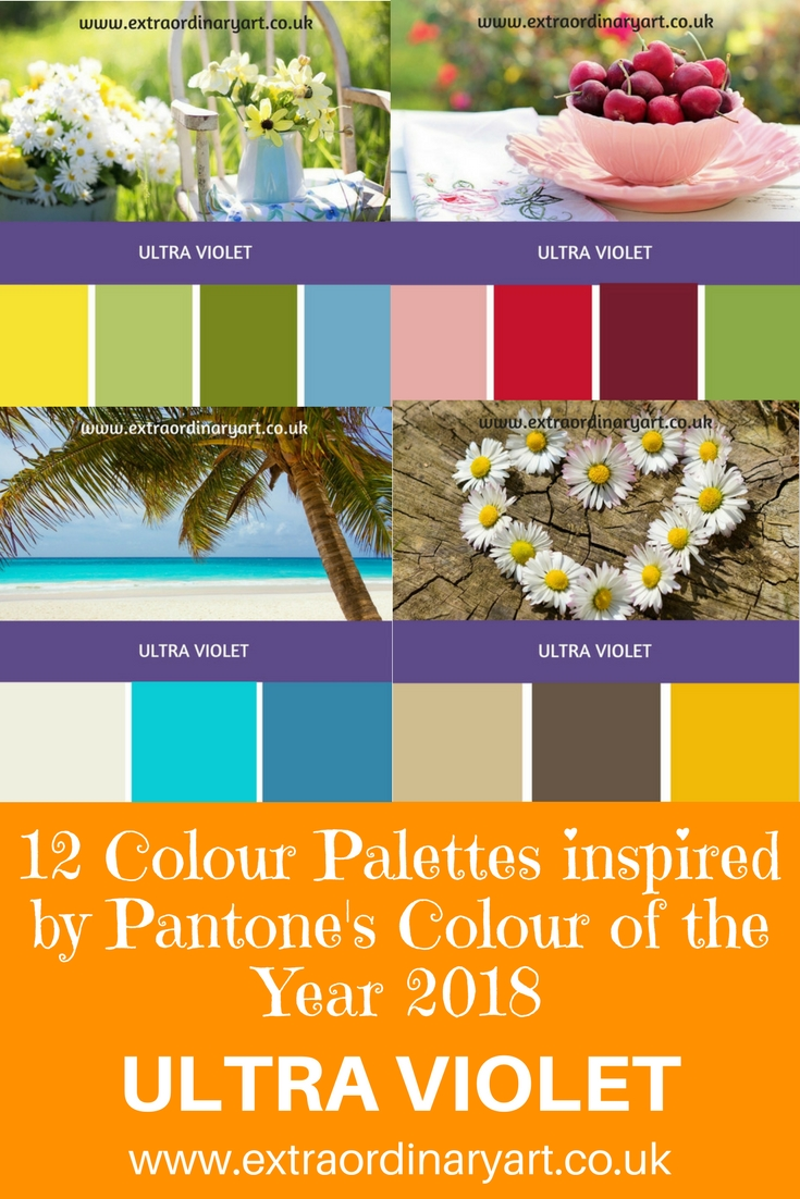 12 Colour Palettes inspired by Colour of the Year 2018