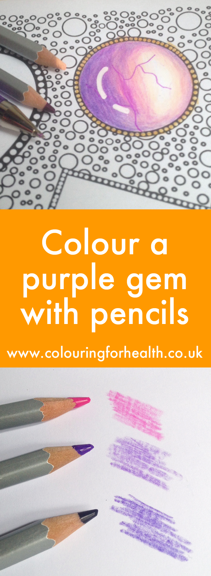 Color a purple gem with background