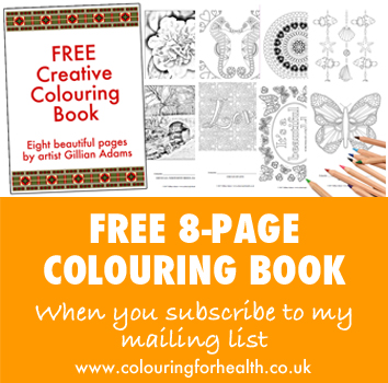 FREE 8-page colouring book when you sign up for my mailing list