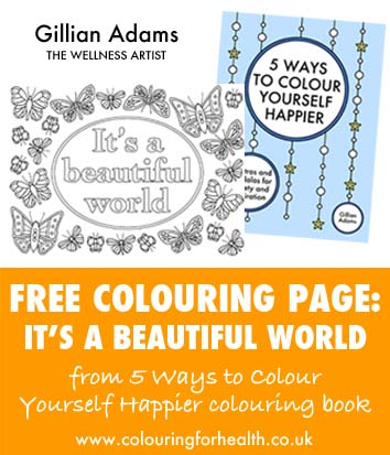Free colouring page It's a beautiful world