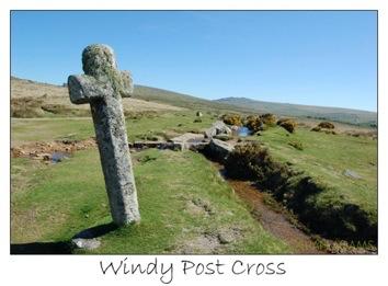 Windy post cross © Gillian Adams, Divine Dartmoor Walks