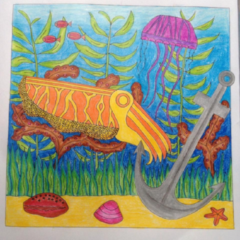 Cuttlefish, Drawn to the Ocean colouring book