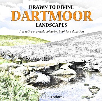 Drawn to Divine Dartmoor Landscapes colouring book
