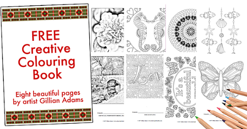 Free Colouring Book by Gillian Adams