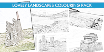 Lovely Landscapes colouring bundle www.extraordinaryart.co.uk
