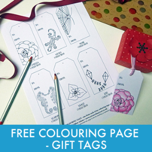 Free Printable gift tags for adult colouring www.extraordinaryart.co.uk