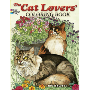 12 cat-themed colouring books
