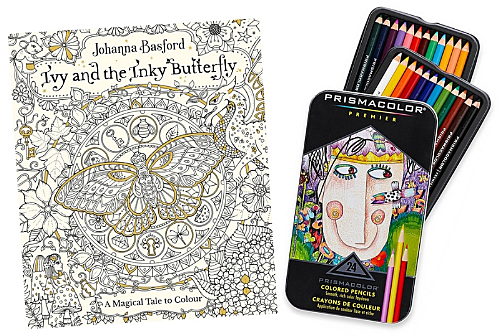 January 2018 colouring book and pencils giveaway