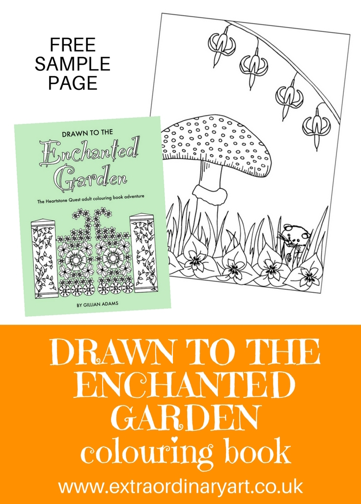 Drawn to the Enchanted Garden free sample page