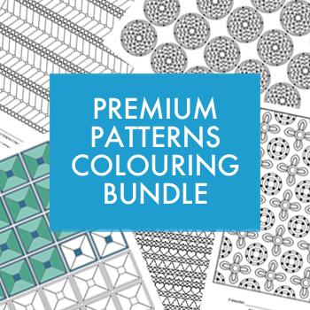 Premium Patterns colouring bundle