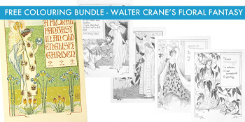 Walter Crane's Floral Fantasy FREE colouring bundle