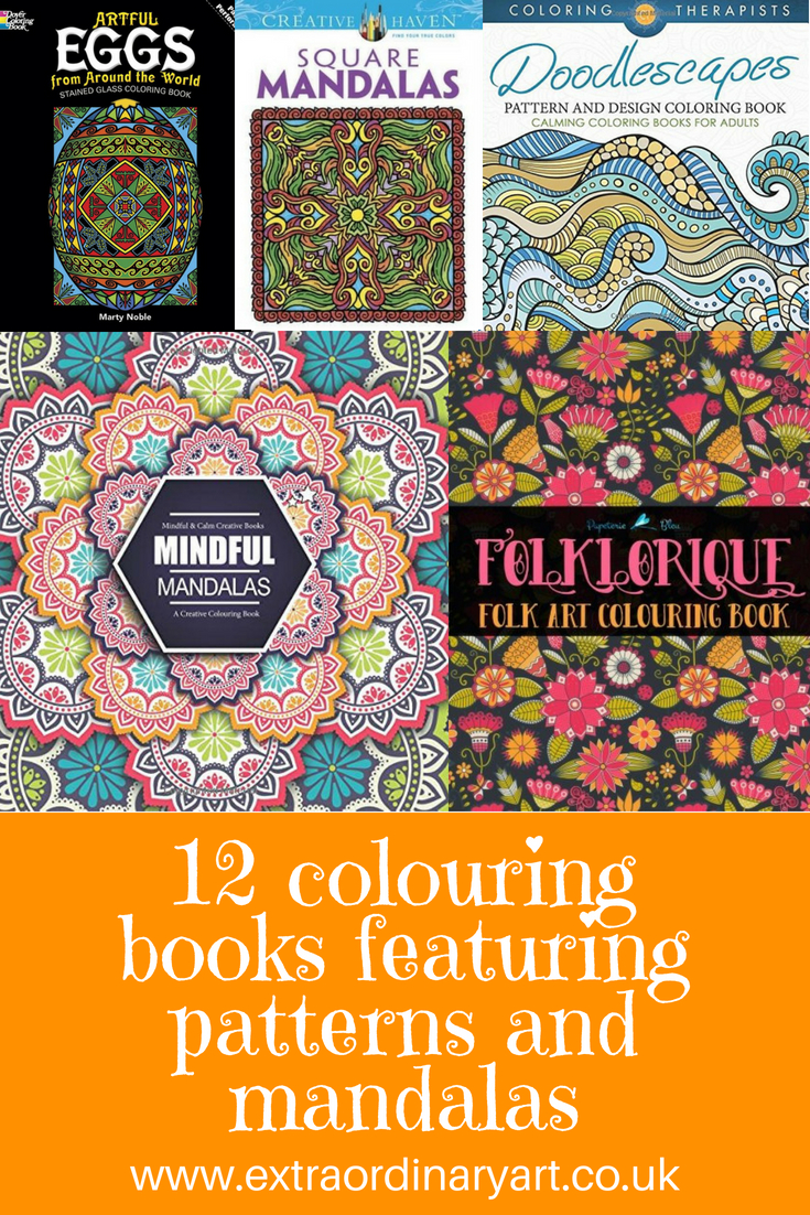 12 colouring books with patterns