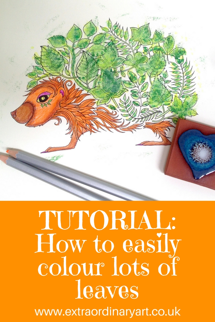 How to easily color lots of leaves - this is so clever