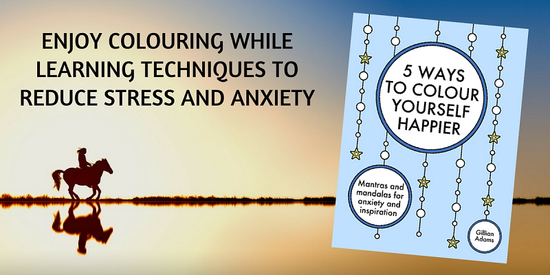 Colouring book for stress and anxiety
