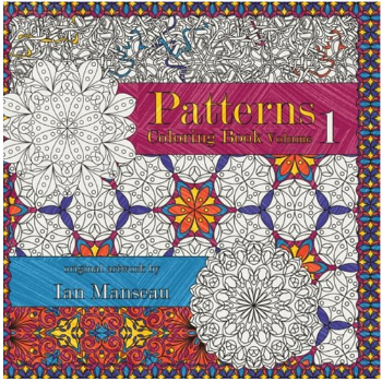 12 colouring books featuring patterns