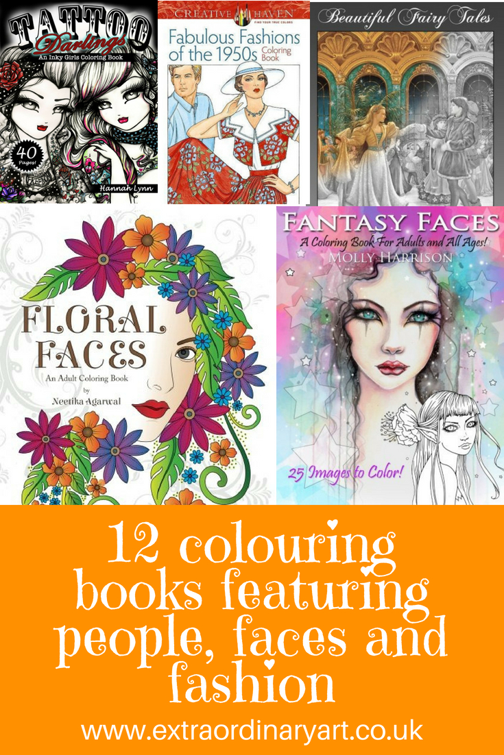 12 people themed coloring books