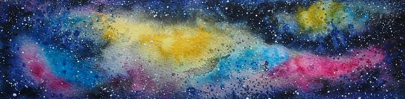 Gillian's watercolour galaxy art