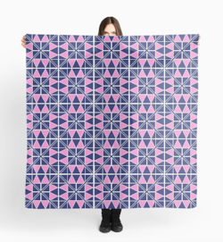 Navy Glow scarf on Redbubble