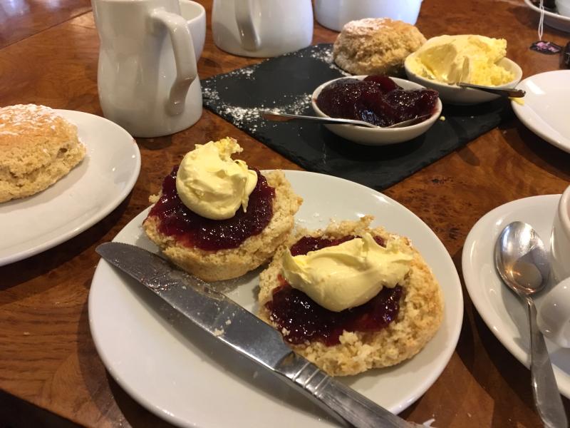 Cream tea, Two Bridges Hotel, Dartmoor