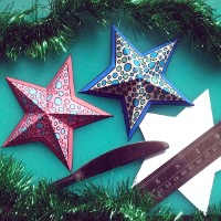 3D stars colour craft