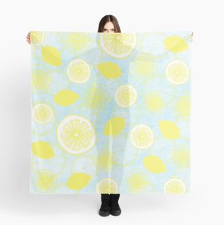 Lemon Fresh scarf design