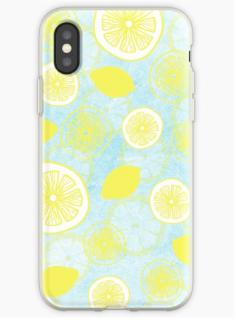 Lemon fresh pattern mobile phone case