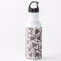 Hawthorn tree pattern water bottle
